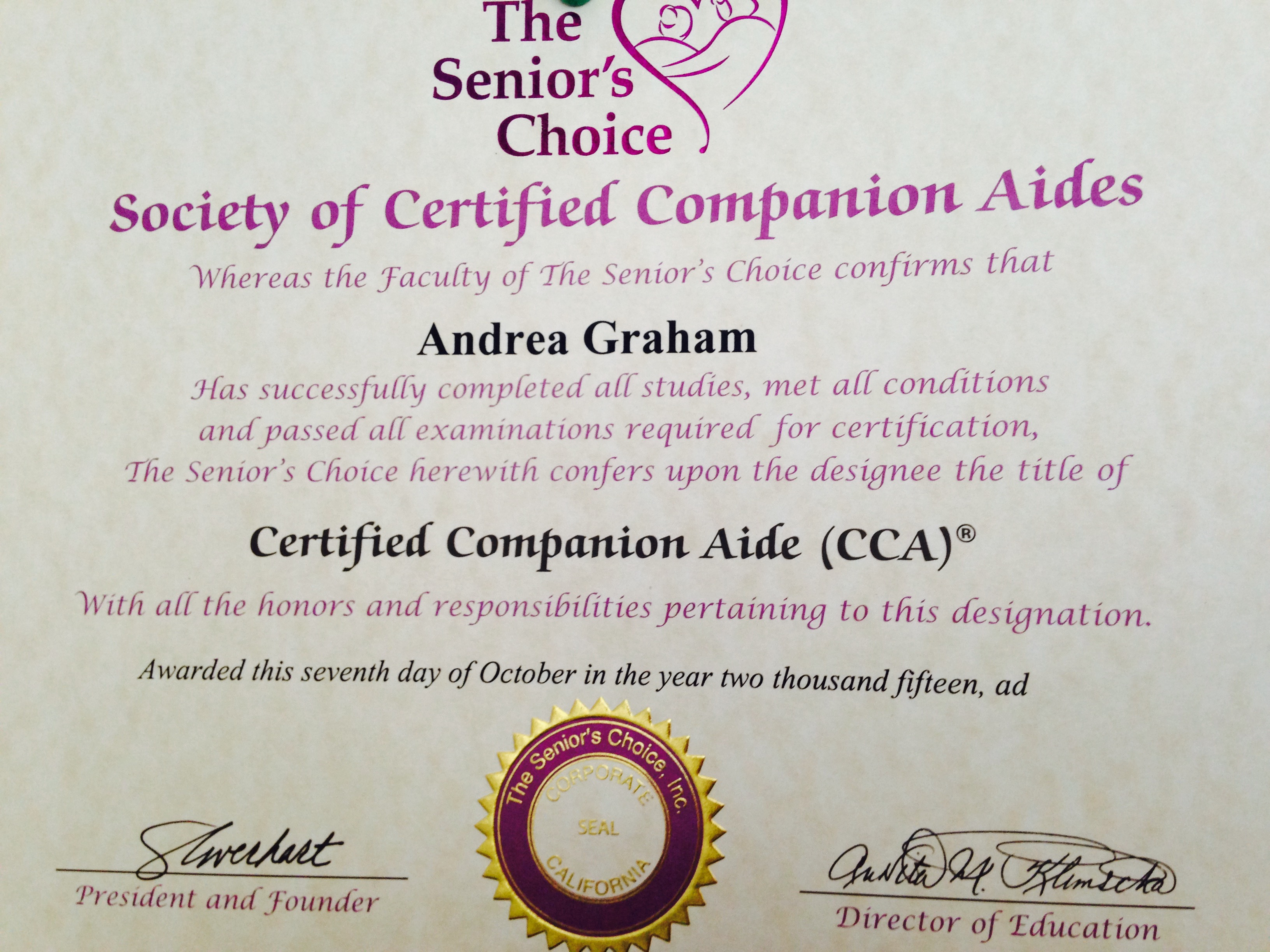 Andis Cca Legacy In Home Care